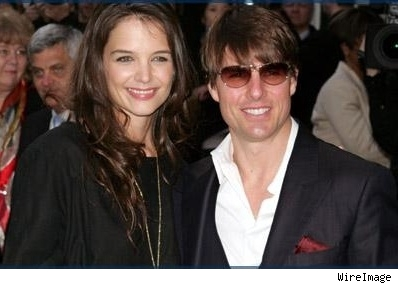 Tom Crusie and Katie Holmes