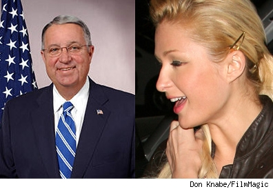 Don Knabe and Paris Hilton