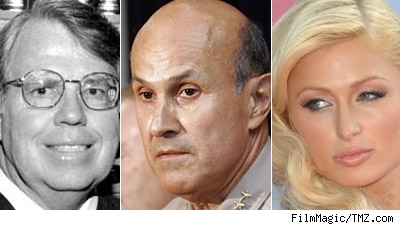 Judge Michael Sauer, Sheriff Lee Baca, Paris Hilton