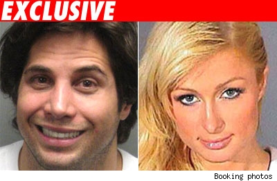 Joe Francis and Paris Hilton booking photos