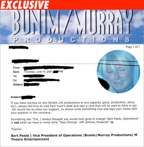 Bunim Murray email to staff