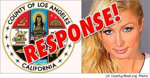 LA County Seal, Paris Hilton