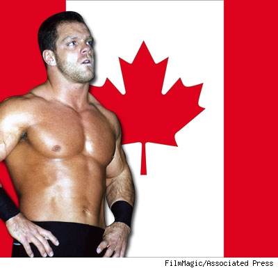 Chris Benoit and the Canadian flag