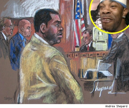 Busta Rhymes Court Sketch
