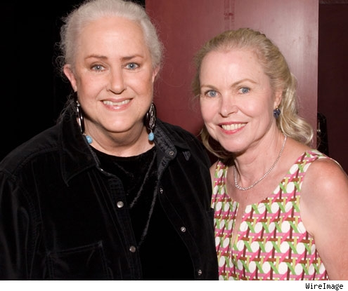 Grace Slick and Michelle Phillips