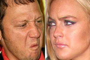 Rob Schneider and Lindsay Lohan
