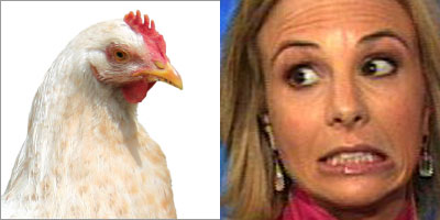 Chicken and Elisabeth Hasselbeck