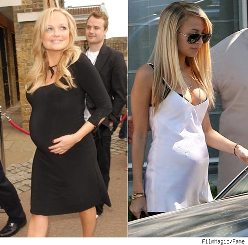 Emma Bunton and Nicole Richie