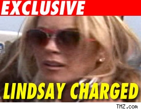 Lindsay Lohan Charged