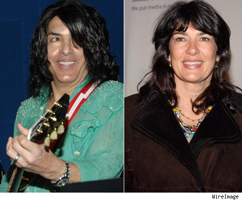 Paul Stanley and Christiane Amanpour