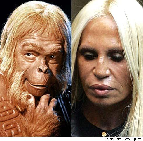 donatella versace. Donatella Versace and Dr.
