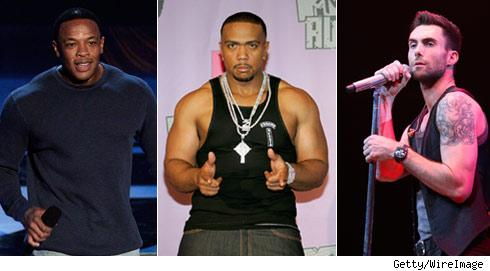 Dr. Dre, Timbaland and Adam Levine
