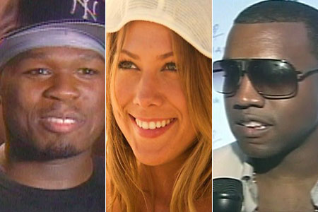 50 Cent, Colbie Caillat, Kanye West