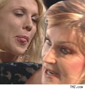 Courtney Love and Sharon Osbourne