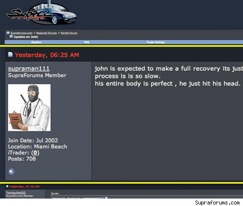 Nick Hogan Supra forum