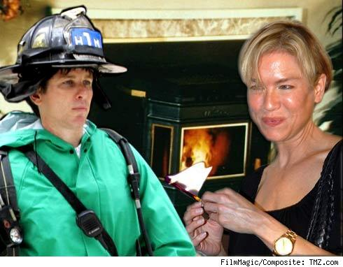 Composite of Renee Zellwegger with fireman