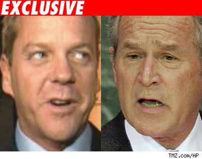 Kiefer Sutherland and George Bush