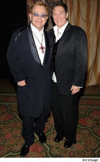 Elton John and k.d. Lang