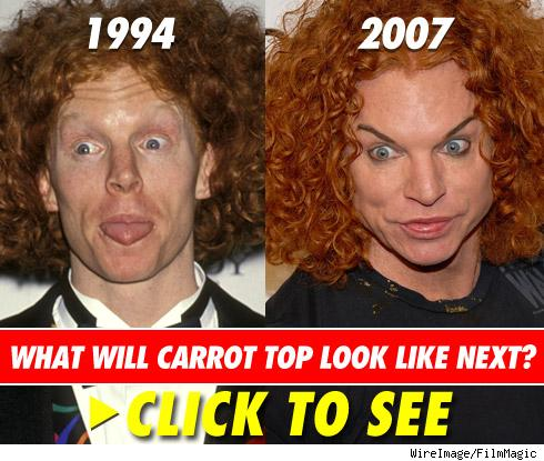 carrot top before. Carrot Top#39;s comedy routine