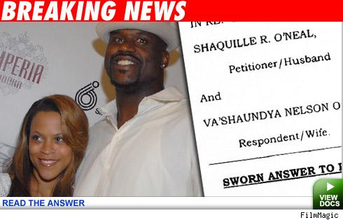 Shaquille O'Neal and wife Shaunie