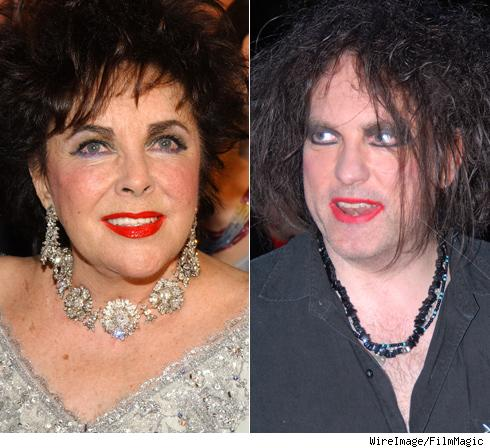 Elizabeth Taylor and Robert Smith