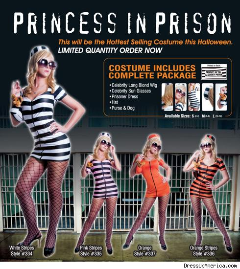 Princess in Prison costume