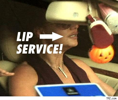 Britney's lips: fuller than usual