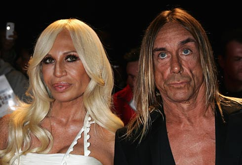 Donatella Versace and Iggy Pop