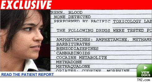 Michelle Rodriguez's patient report
