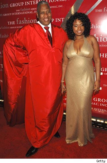 Andre Leon Talley and Jennifer Hudson