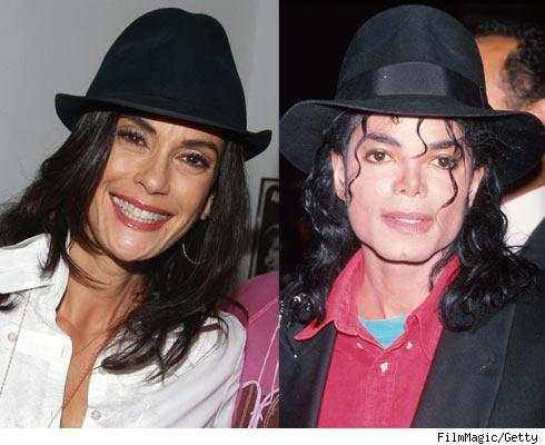Teri Hatcher and Michael Jackson