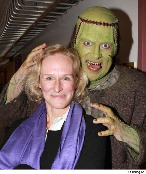Glenn Close and Frankenstein's monster