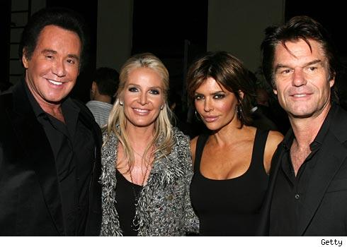 Wayne Newton, Kathleen Newton, Lisa Rinna and Harry Hamlin