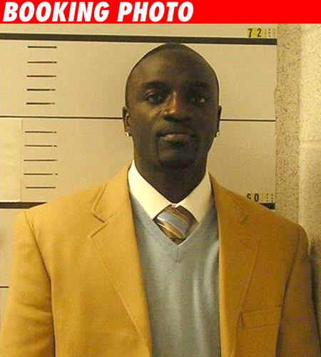 Akon's booking photo