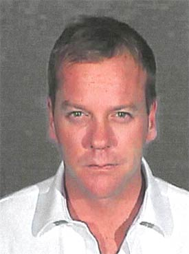 Kiefer Sutherland booking photo