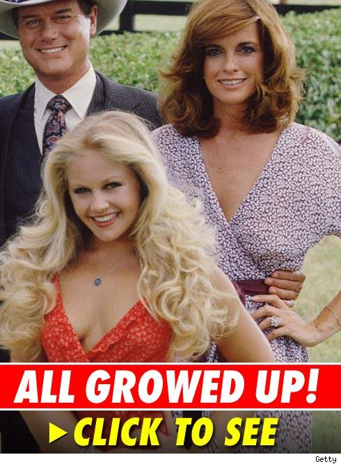 Charlene Tilton, Linda Gray and Larry Hagman