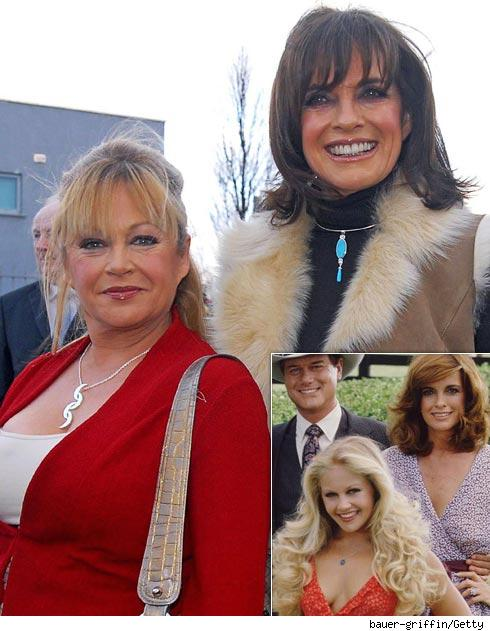 Charlene Tilton and Linda Gray