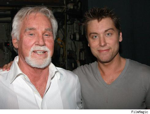 Kenny Rogers and Lance Bass