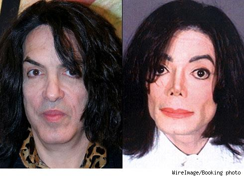 Paul Stanley and Michael Jackson