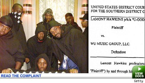 ...of the Wu-Tang Clan is actually suing his own band's music label...