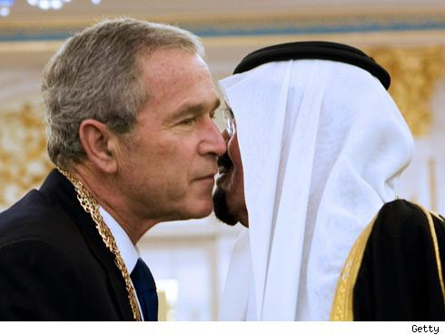 George Bush and the Saudi King
