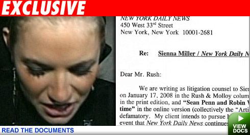 Sienna Miller letter