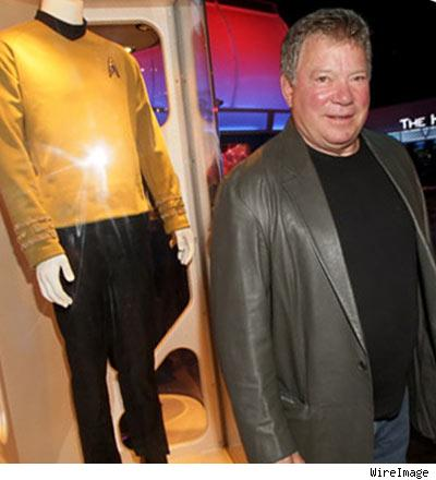 william shatner captain kirk. William Shatner beamed into