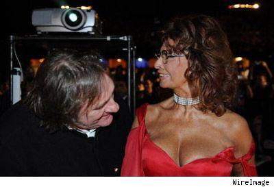 Gerard Depardieu and Sophia Loren
