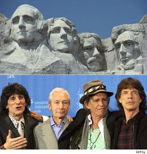 Mount Rushmore and Rolling Stones