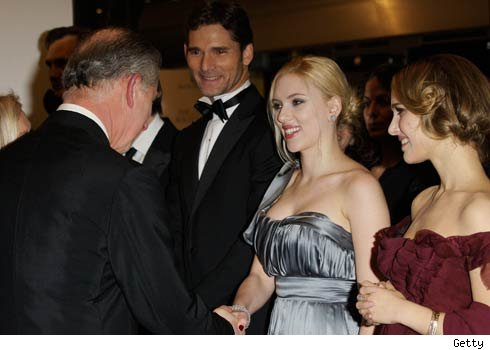 Prince Charles and Scarlett Johansson