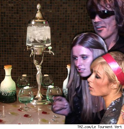 Paris Hilton and absinthe