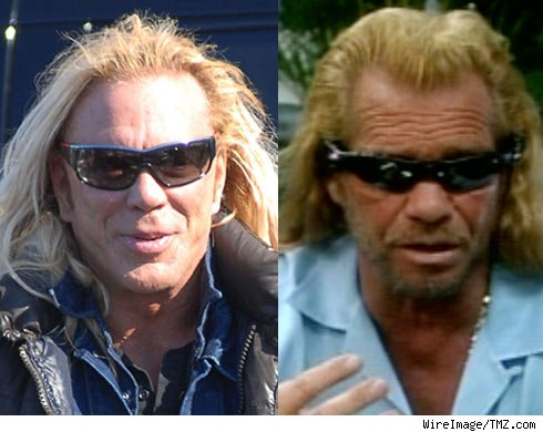 Mickey Rourke and Duane Chapman