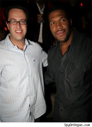 Jared Fogle and Michael Strahan