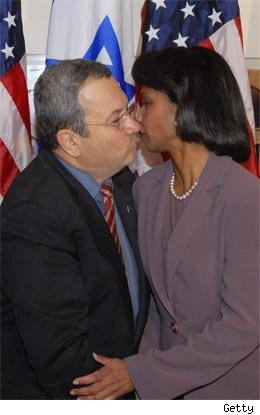 Condoleezza Rice and Ehud Barak